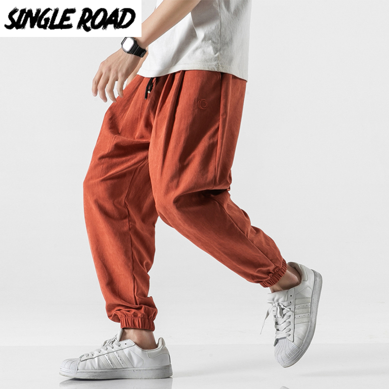 SingleRoad Men's Harem Pants Joggers Men 2020 Summer Thin Cold Feeling Light Hip Hop Japanese Streetwear Trousers Joggers Male