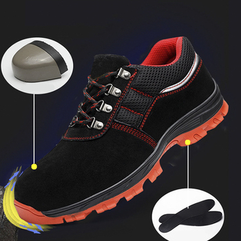 safety shoes Indestructible Shoes Men And Women Steel Toe Air Safety Boots Puncture-Proof Work Sneakers Breathable boots