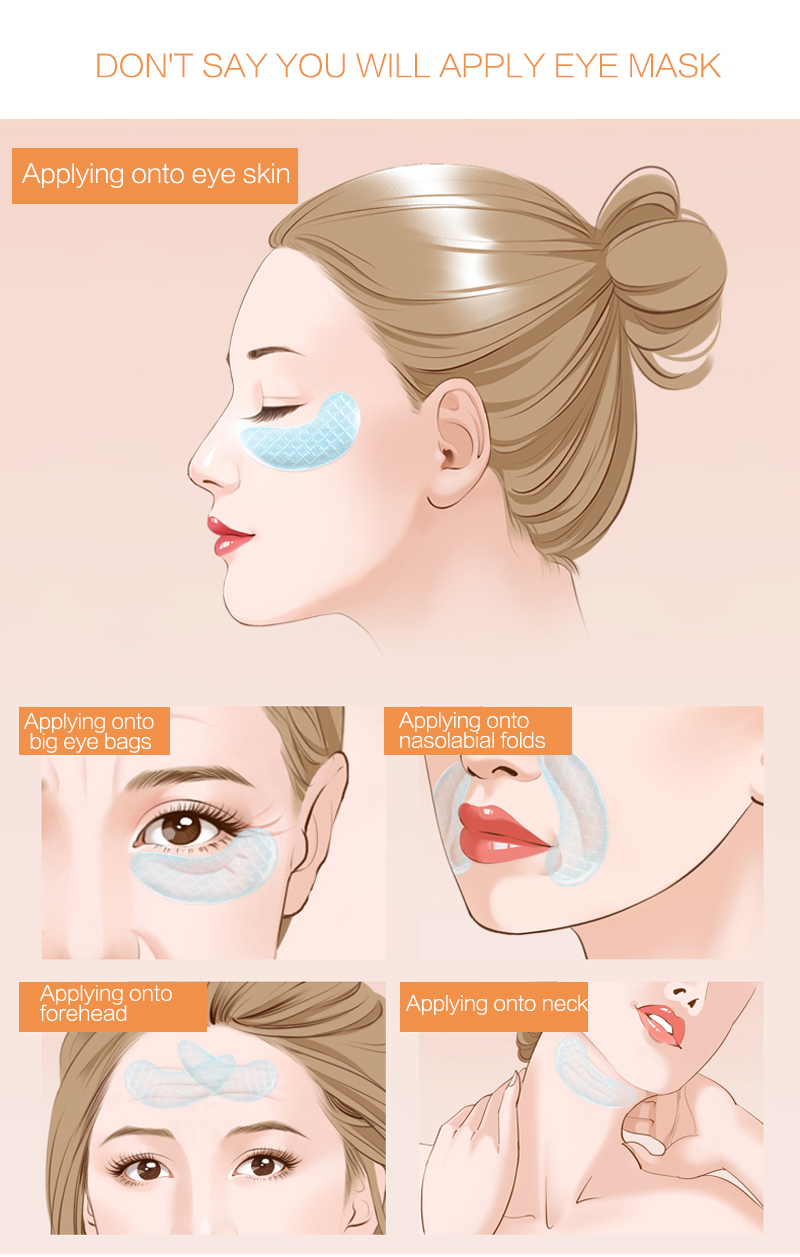 2pcs Collagen Eye Mask Anti-Wrinkle Mask Gel Sleep Gold Mask Eye Patch Eliminates Anti-Aging Moisturizing Skin Care TSLM2
