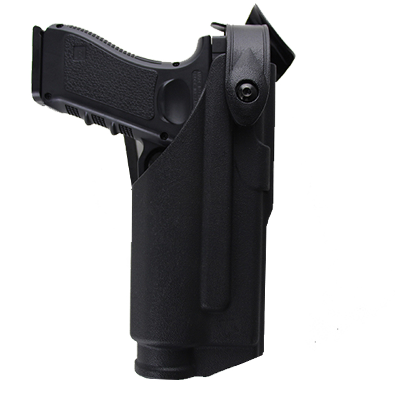 Tactical Military Combat Gun Holster Fit For Glock 17 18 19 22 23 31 32 Belt Right Hand Pistol Holster With Tactical Light Case