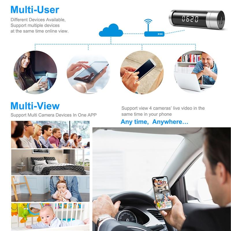 Full HD 1080 Wifi часы мини камера ночного видения P2P IP секретная камера Обнаружение движения микро DVR камера беспроводная безопасность мини камера - 4