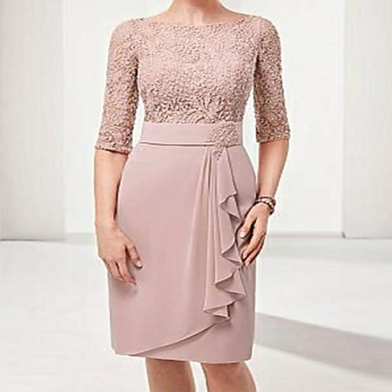 YNQNFS Bridal Dress Mom Retro Vintage Elegant Lace Bride Mom Dress Vestido Bridal Wedding Dress