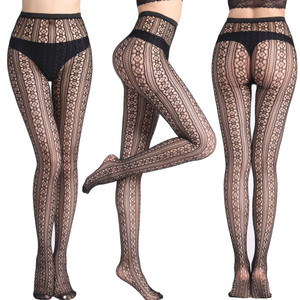 Image 2 - Hollow Out Sexy Pantyhose Mesh Stockings Jeans Stretch Bottoming Stocking Fishnet Stockings Tights High Quality Female Pantyhose