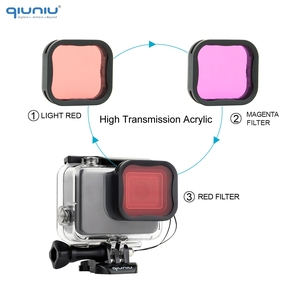 Image 5 - QIUNIU 40m Underwater Diving Waterproof Housing Case + Dive Lens Filter Kit for GoPro Hero 7 Silver/White for Go Pro 7 Accessory