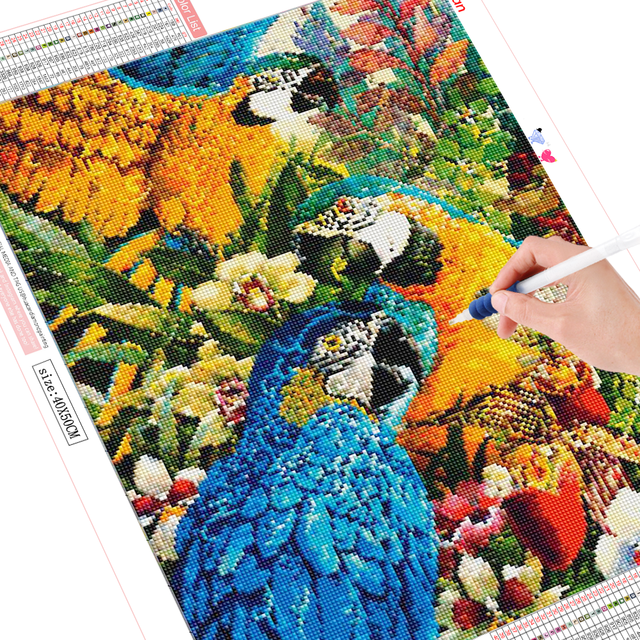 HUACAN 5D Diamond Painting Full Square Parrot Diamond Art Embroidery Bird Animal Mosaic New Arrival Home