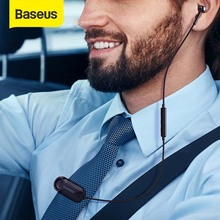 Baseus Bluetooth Earphone Lavalier Wireless Headphones with Micphone Earbud Hand