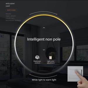 Image 4 - LED תקרת אור 72W 36W למטה אור משטח הר פנל מנורת AC 220V 3 צבעים שינוי מודרני מנורת לעיצוב בית תאורה