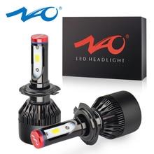 NAO H7 H4 LED Scheinwerfer H11 HB4 Nebel Licht H8 HB3 H9 Auto Blub 9006 9005 12V Weiß 60W 6400Lm Turbo Fan Lampe Auto Zubehör