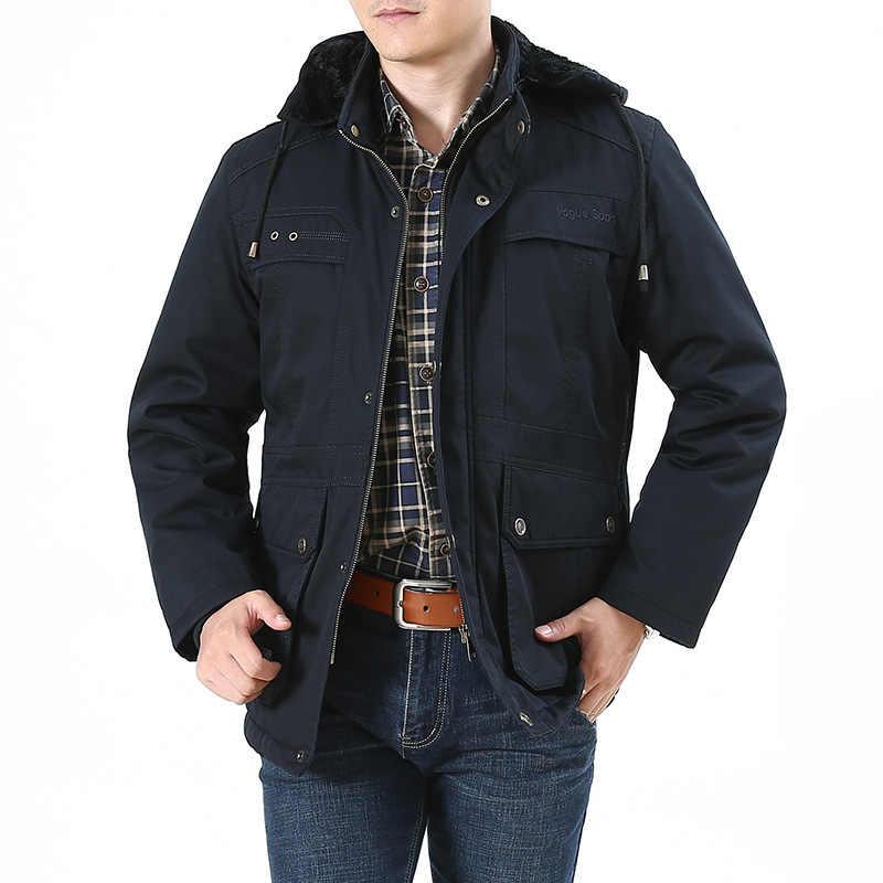 Большие размеры 8XL российские военный зимний жакет для мужчин шерстяной вкладыш теплый с капюшоном Мужская парка хлопок мульти-карман пальто мужской casaco masculino