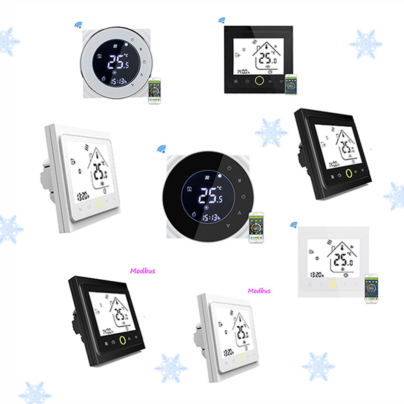Thermostat 3A Water Floor Heating Thermostat Wifi/Modbus BHT-6000-GALW BHT-002GALN Winter Home Warm Room Temperature Controller