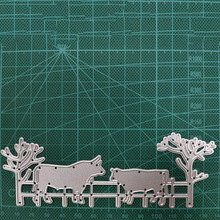 138*50mm  Calf fence Metal Cutting Dies for DIY Scrapbooking Album Paper Cards Decorative Crafts Embossing Die Cuts inlovearts butterfly metal cutting dies for diy scrapbooking album paper cards decorative crafts embossing butterflies die cuts