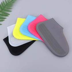 Thickened Shoe Cover Waterproof Shoes Cover rain day Polyester ShoesClear Foot Cover Non-slip Stylish Reuse Shoe Accessories