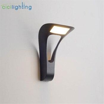Modern art LED Wall Light Aluminum Outdoor Waterproof Wall Lamp Garden Porch Patio Aside Front Door Lighting Light dropshipping