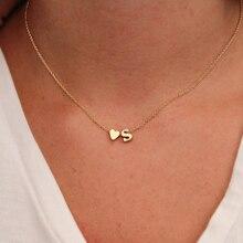 SUMENG moda corazón pequeño delicado inicial personalizado nombre letra gargantilla Collar para joyería colgante de Mujer Accesorios regalo