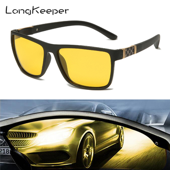 LongKeeper Car Night Vision Driver Sunglasses Men Women Vision Sun Glasses Car Driving UV Protection Polarized Goggles Eyewear car driver goggles anti uva polarized sun glasses driving night vision lens clip on sunglasses interior accessories