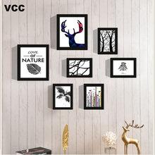 7 шт фото рамка для стене висит стены искусства молодожен рекомендация