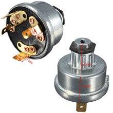 Универсальный переключатель зажигания и два ключа Универсальный тракторный переключатель зажигания с 2 ключами для Lucas 35670 Messey Ferguson