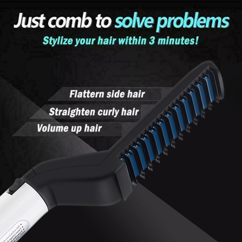 Multifunctional Brush Beard Straightener With Hair Comb Straightening Hair Styler For Men 5