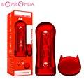 Neueste Männlichen Masturbator Tasse Weiche Pussy Wireless Remote Sex Spielzeug Echt Vagina Erwachsene Ausdauer Übung Sex Vakuum Tasse für Männer