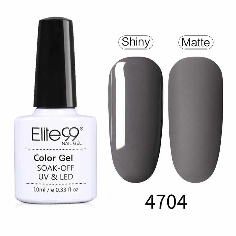 Elite99 10ml Gel esmalte de uñas híbrido juego de manicura para pintura de poligel arte UV lámpara LED uñas Gel varinillos capa superior de Gel Base
