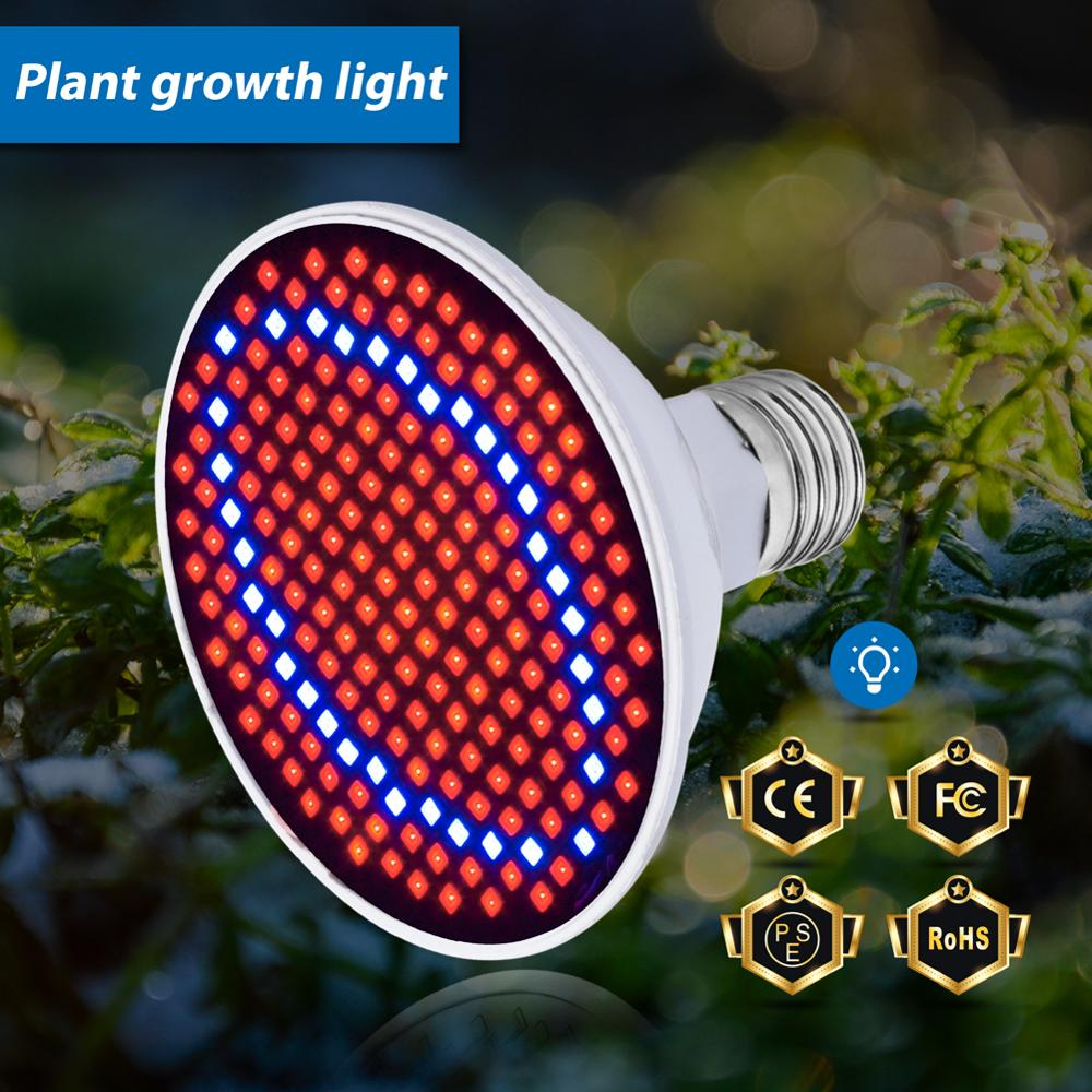 Growth Light LED E27 Full Spectrum LED Bulb 110V Plant Lamp 60 126 200led Hydroponic Phyto Lamp Flower Seedling Greenhouse Light
