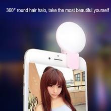 Portable Selfie Flash Led Clip-On Mobile Phone Selfie 3 Adjustable Light Night Enhancing Fill Light Beauty Self-Timer Lamp