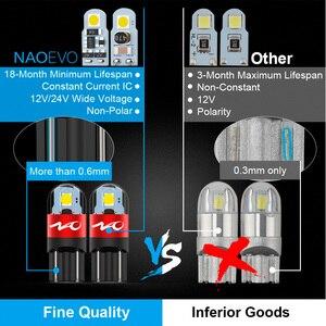 Image 2 - NAO T10 LED 10 adet W5W LED ampul 3030 araba ışık 5W5 dönüş sinyali otomatik işıkları 12V lisans plaka ışık gövde tavan aydınlatması aracı