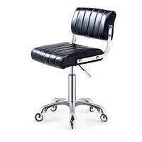 Banqueta de beleza barbeiro fezes de manicure cadeira de trabalho cabeleireiro polia beleza cadeira giratória elevador   -