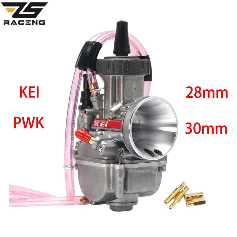 ZS Racing universel 28mm 30mm PWK Keihin Moto carburateur pour 125-250cc 4T Moto ATV UTV Pit Bike vélo avec Jet d'énergie
