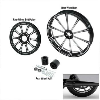 Harley Rear Wheel Rim + Hub + Belt  1
