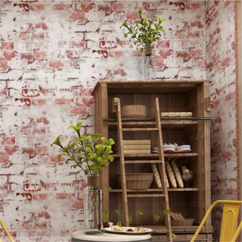 Beibehang brique motif papier peint brique brique tête rétro vintage gris ciment brique mur industriel vent antique fond mur