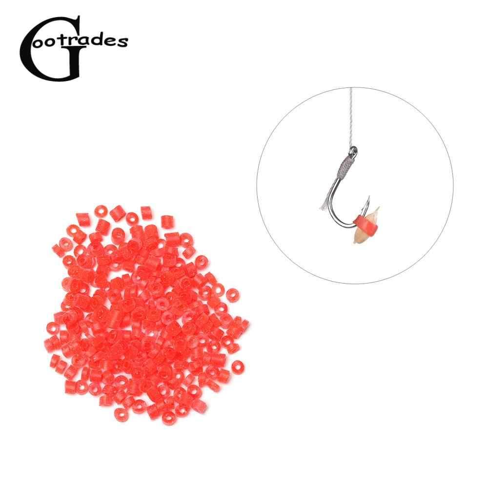 400 Stuks Duurzaam Rode Hoge Elastische Latex Ruwe Ring Elastiekjes Voor Bloodworm Aas Granulator Aas Visgerei Accessoires