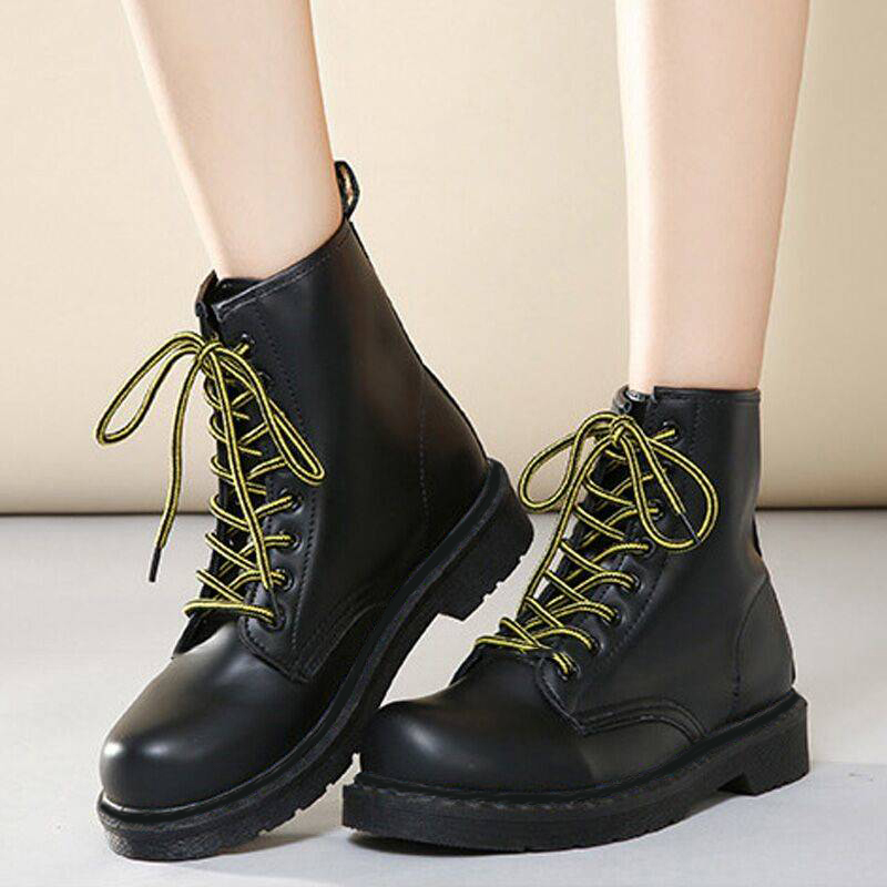2019 New Genuine Boots Winter Boots Women Leather Mid-Calf Boots Autumn For Martin Boots Ladies Black Women Winter Shoes