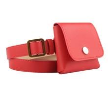 купить Direct sales Ms Belt Bag Pu Leather Waist Bag Fashion Women's Pure Color Retro Key Bag Messenger Shoulder Chest Bags Phone Bags дешево