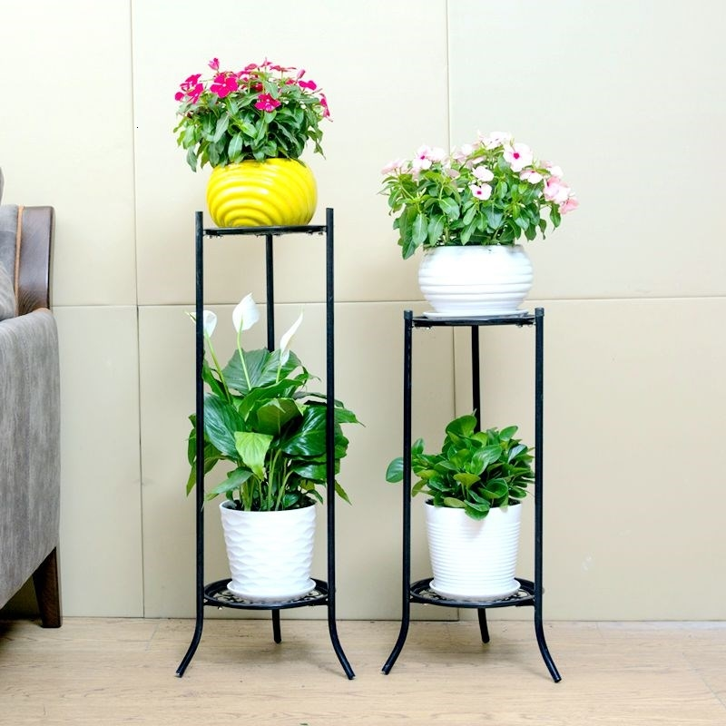 Multi-storey Indoor A Living Room Green Luo Flowerpot Bracket Household To Ground Chlorophytum European Style Many Function