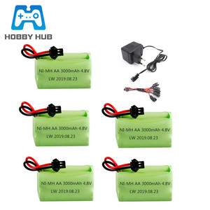 4.8v 3000mAh Battery and Charger For Rc