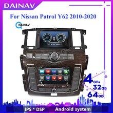 Новейший двойной экран Android автомобильное радио GPS для infiniti QX56 QX80 Nissan патруль Y62 2010-2020 мультимедийный стерео плеер авторадио
