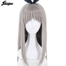 Ebingoo Anime Blend S Kanzaki Hideri Aus Straight Long Silver gray Cosplay Wig Halloween Costume Play Wigs For Women + Wig Cap