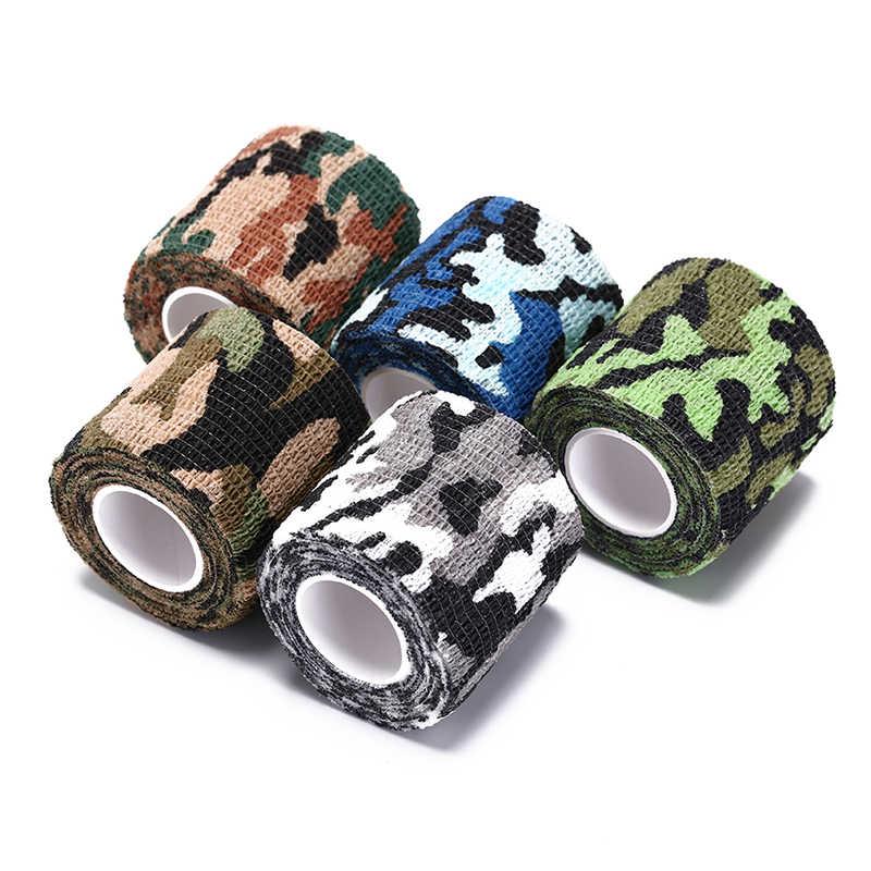 防水粘着テープライフルhun狩猟バイオニックテープ屋外迷彩包帯ロール狩猟アクセサリー5センチ× 4.5メートルcamoラップ