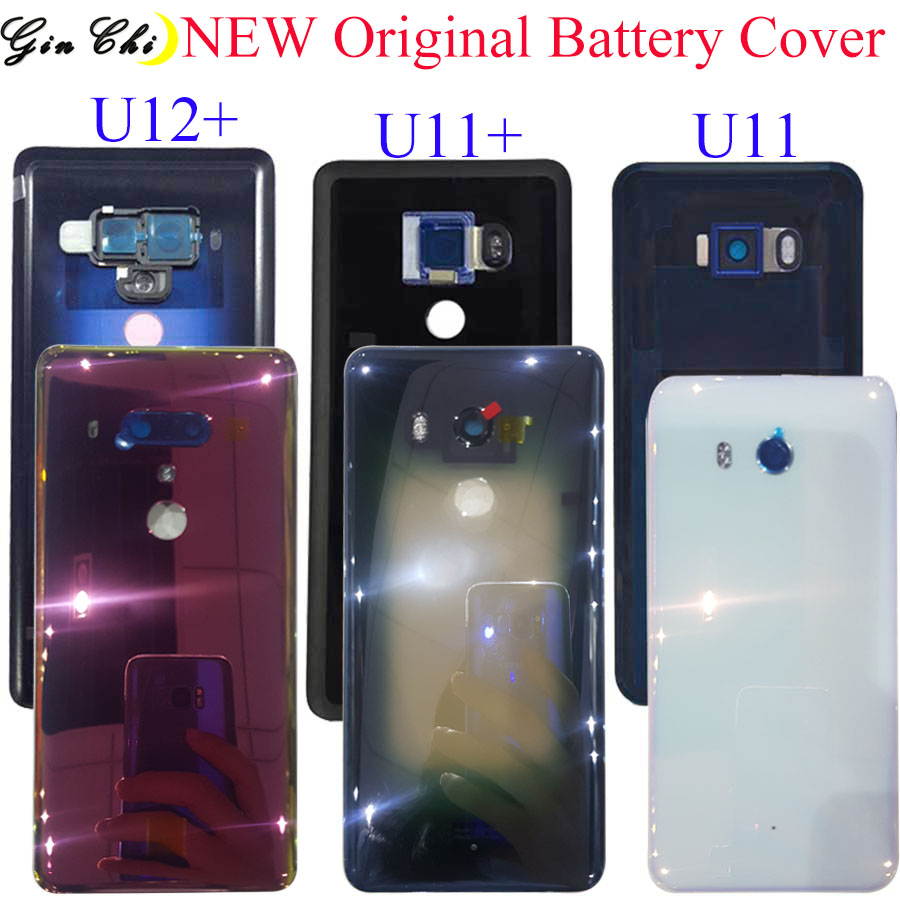 Original 6.0 For HTC U11 Plus Battery Cover Door Rear Glass Housing Case For HTC U11+ Back Cover With Camera Lens Free Shopping