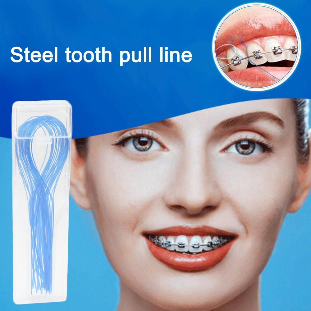 2019 Hot Sale 1 Pack Dental Floss Threaders Tooth Floss Holders Between Orthodontic Braces Bridge Hilo Dental High Quality Mdf
