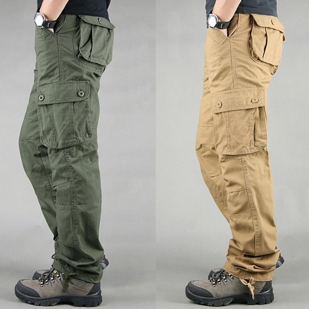 2019 Plain Pants Men Casual Chinos Trousers Joggers  Man Chinos Pants With Elastic Cuff Clothing Summer Autumn Men's Pants