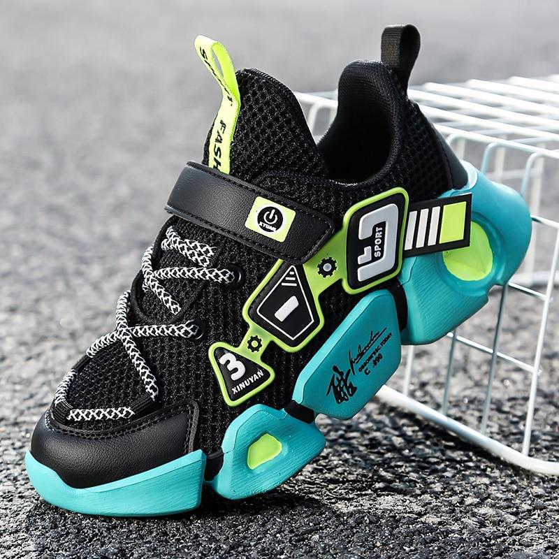 Детские кроссовки для мальчиков, дышащие легкие, с мягкой подошвой, для бега|Кроссовки| | АлиЭкспресс