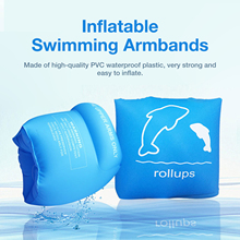 Adults Kids Swimming Arm Rings Inflatable Arm Float Safety Swimming Wing Water Armbands For Learning Swim Water Sports Accessory