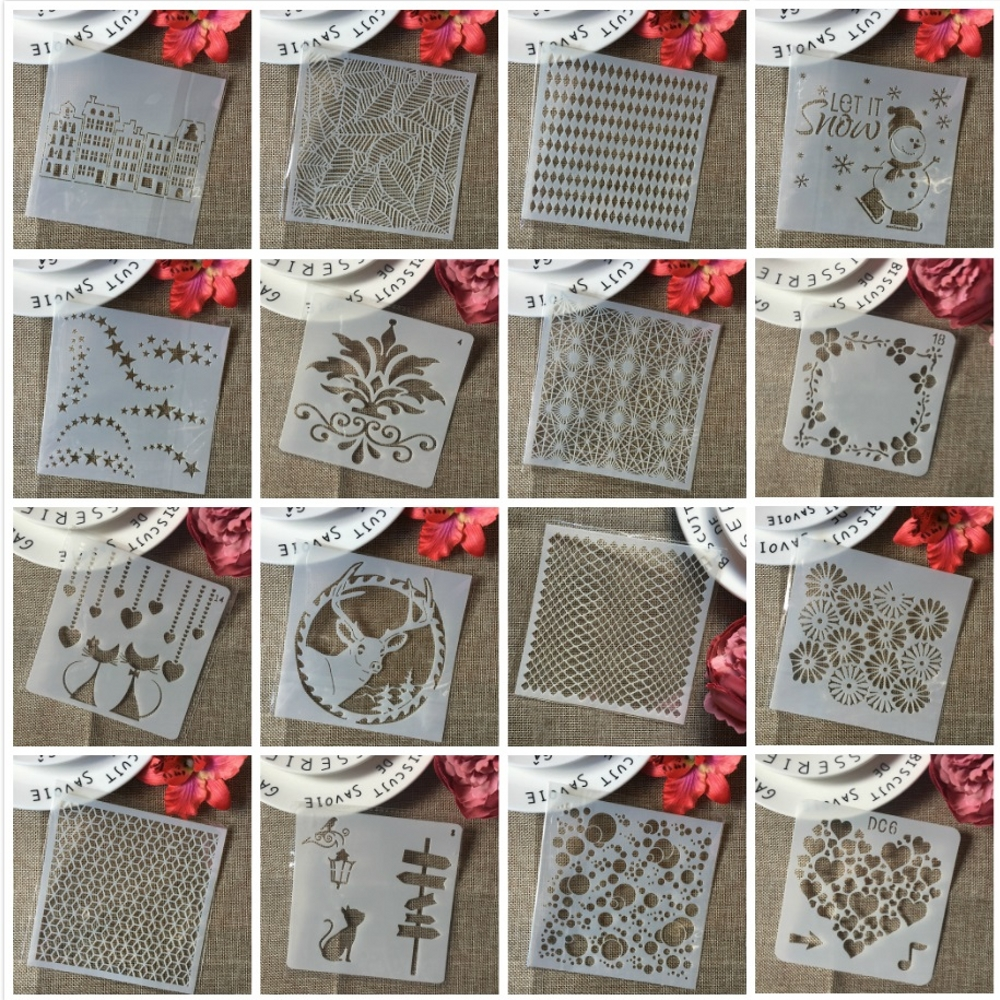 2019 Annual Best Selling 5*5inch DIY Layering Stencils Wall Painting Scrapbooking Stamping Embossing Album Card Template