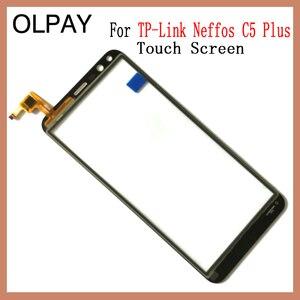 """Image 4 - OLPAY 5.34 """"מגע מסך עבור TP קישור Neffos C5 בתוספת מגע מסך Digitizer פנל קדמי זכוכית עדשת חיישן כלים דבק + מגבונים"""