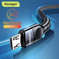 Essager Micro USB Kabel 3A Schnelle Lade Ladegerät Microusb Draht Kabel Für Samsung Xiaomi Redmi Android Handy Daten Kabel 3M