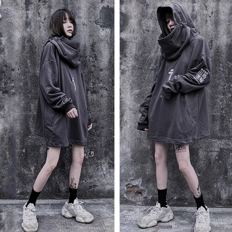 11 BYBB'S DARK Japanese Streetwear Hoodie Men Harajuku Neck Fish Mouth Pullovers Sweatshirts Oversized Hip Hop Hoodies Techwear 6