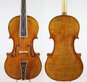 4/4 Master-Piece Violin-Violino-Copy Stradivari-Antiqued Baroque Cremoneser-European-Wood