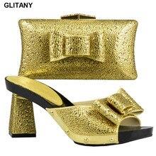 Итальянский комплект из туфель и сумочки, комплект из золотых туфель и сумочки в африканском стиле г., комплект из женской обуви и сумочки в итальянском стиле, туфли и клатч в нигерийском стиле